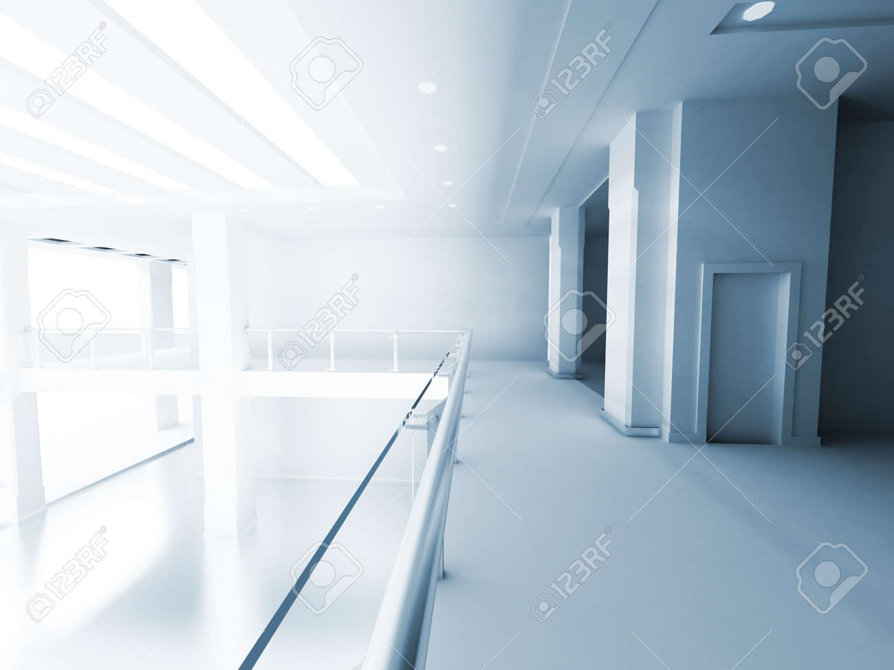 hall of a business building with columns and light from a window Stock Photo - 3819132
