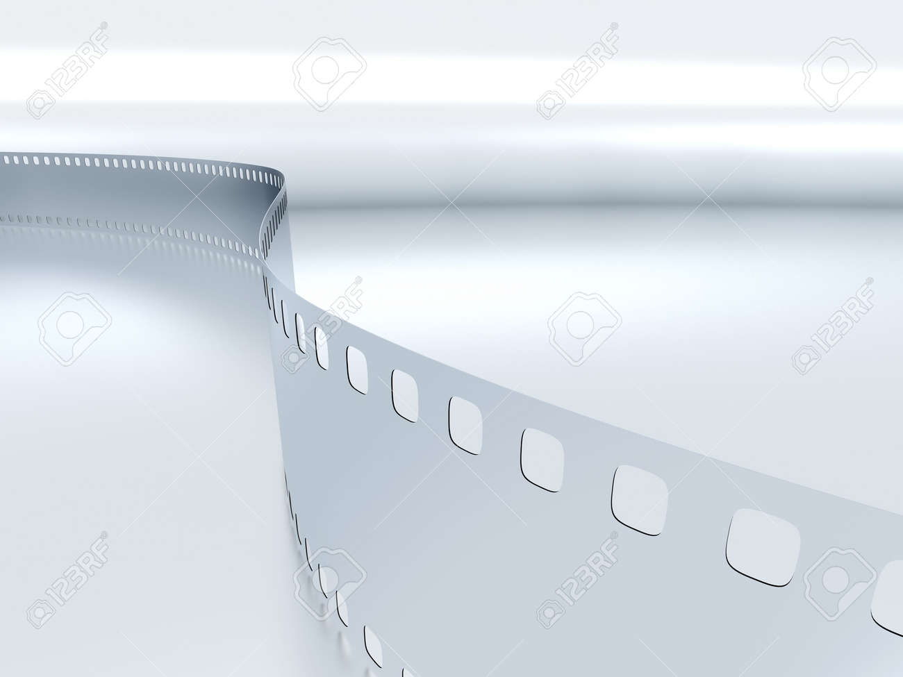 model of a photo film on a blue metallic background Stock Photo - 4873953