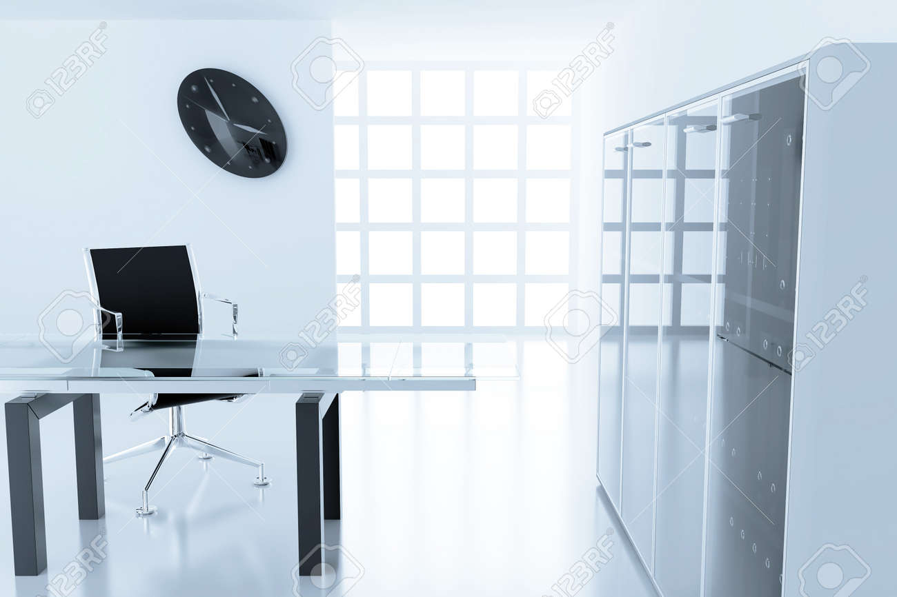 Light modern cubicle with a table and an armchair in a time off Stock Photo - 10919473