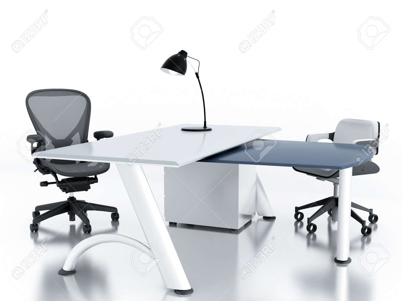 Empty office room with table and armchairs Stock Photo - 12046452