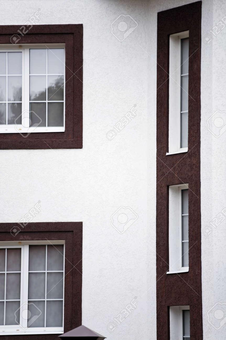Banque Du0027images   Fenêtres Et Mur Blanc De La Maison Moderne