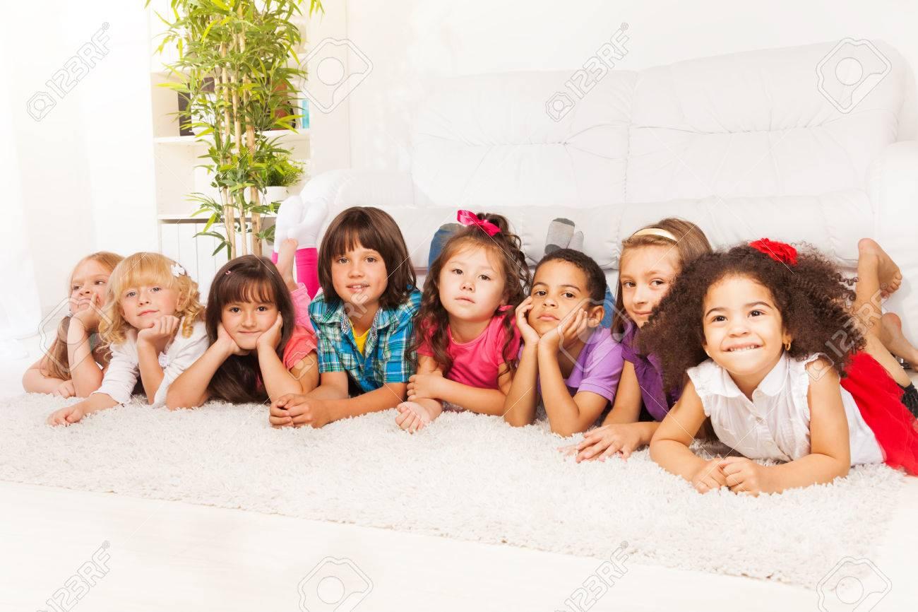 Asian little girls group