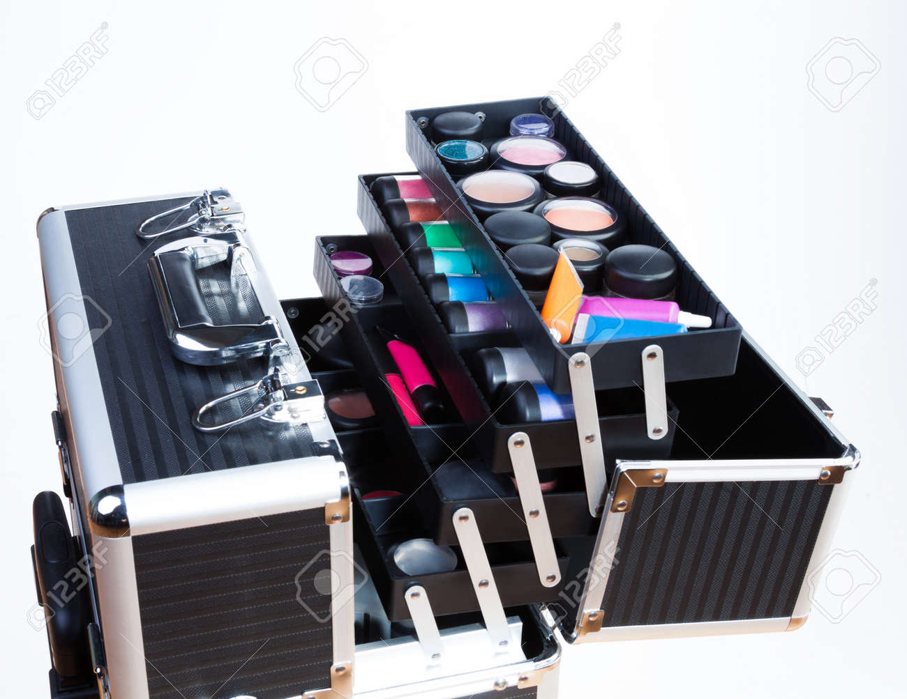 4efe50bbcab3 Large professional makeup container with containers tubes lipsticks..