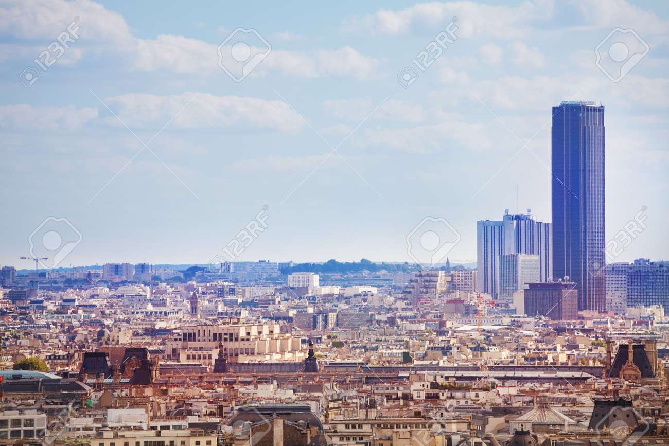 View of the Paris Montparnasse district and tower - 120180111