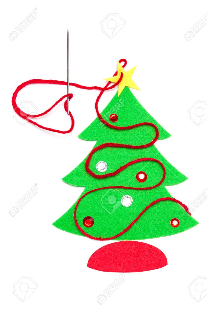 Sequins felt Christmas tree decoration