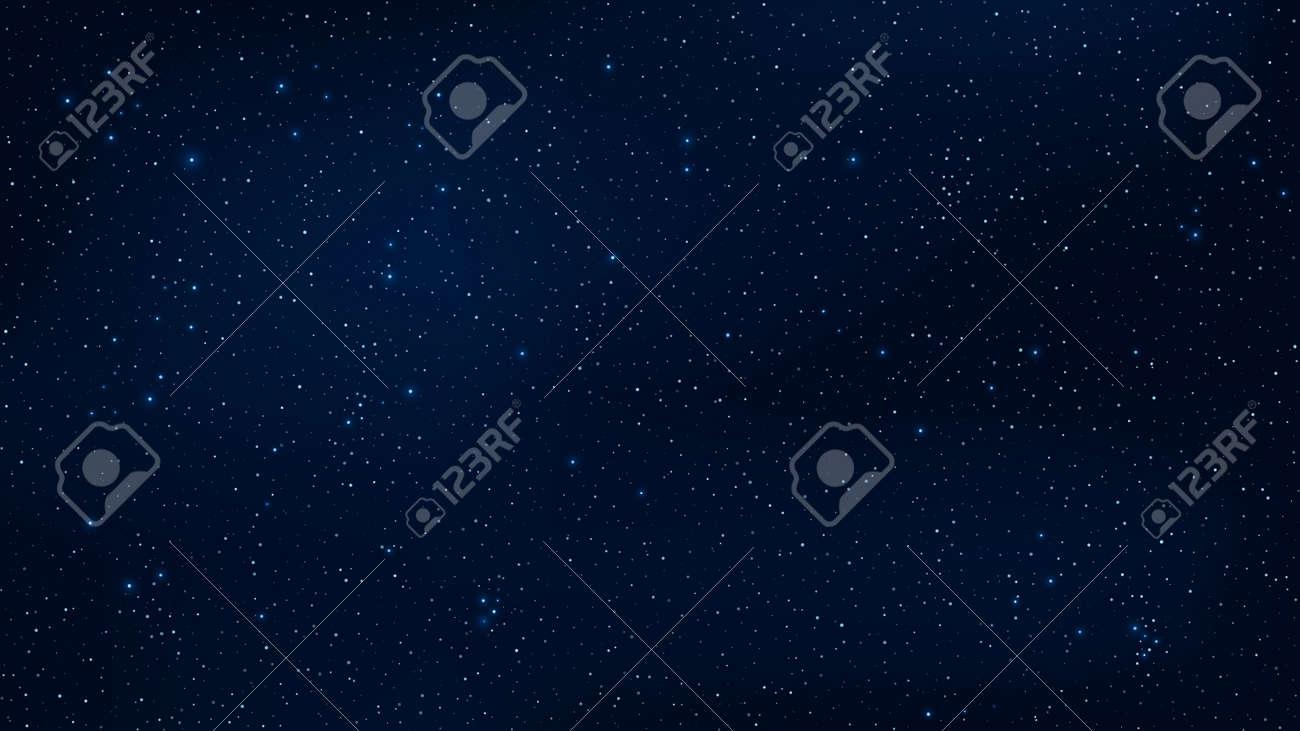 Vettoriale Sfondo Astratto Il Bel Cielo Stellato è Blu Le Stelle