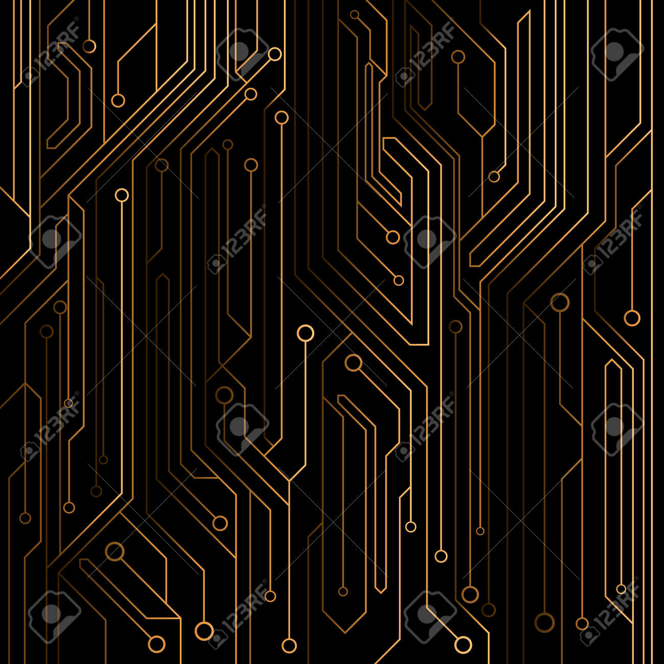 High Tech Background Of Orange Color From A Computer Board With Royalty Free Cliparts Vectors And Stock Illustration Image 80436882