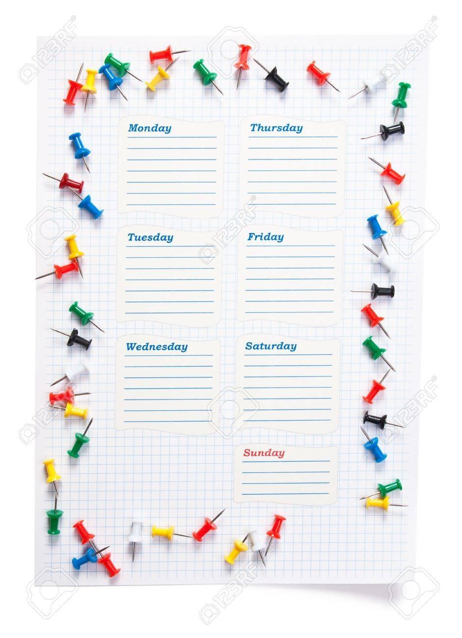 blank school schedule