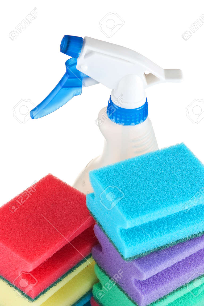 Various sponges isolated on white background Stock Photo - 8854657