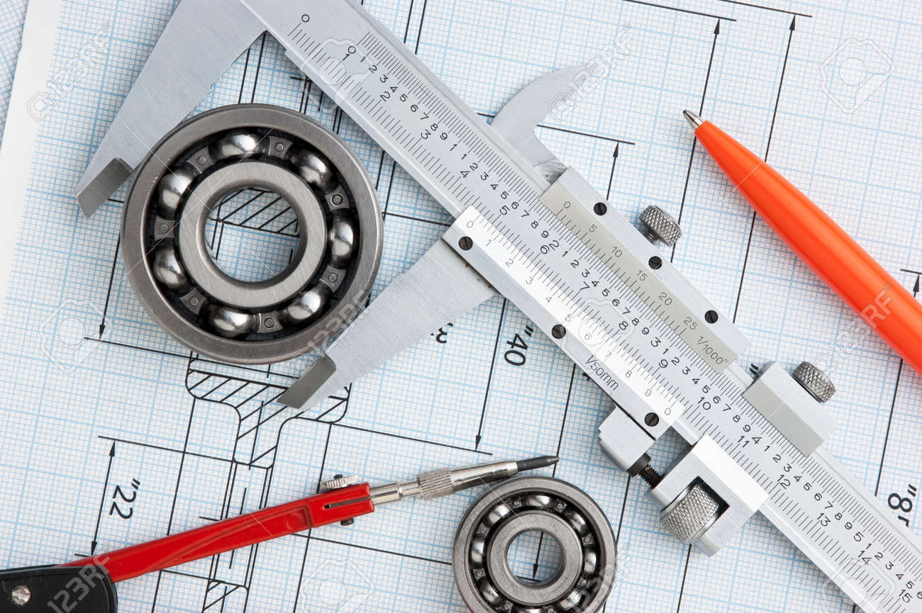 Technical Drawing And Tools Stock Photo, Picture And Royalty Free ...