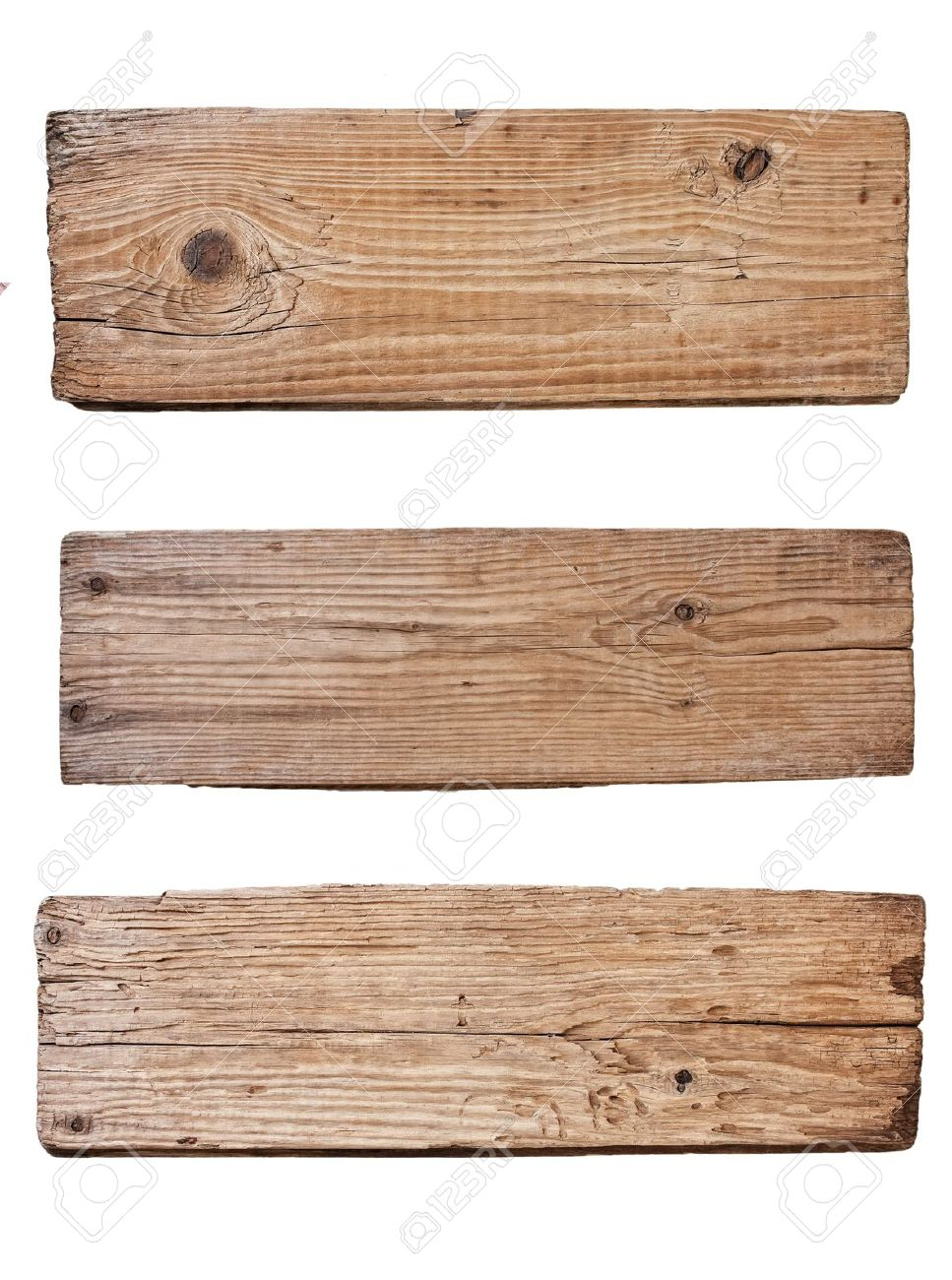 Merveilleux Old Plank Of Wood Isolated On White Background Stock Photo   9829739