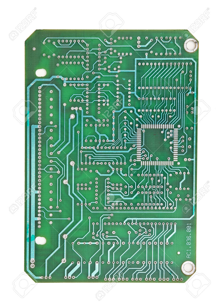 printed circuit board isolated on white background Stock Photo - 10036257