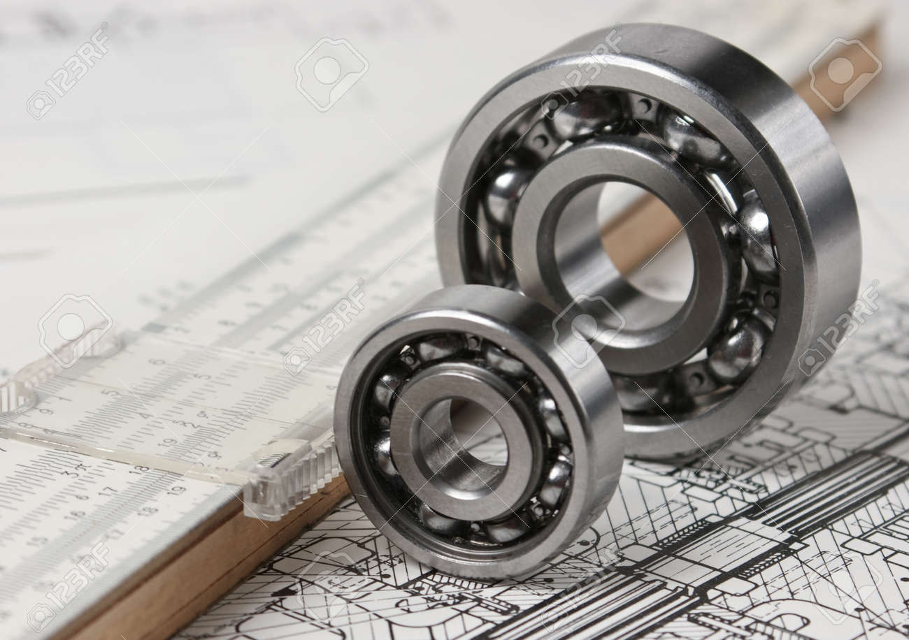 mechanical scheme and calipers with bearing Stock Photo - 10062018