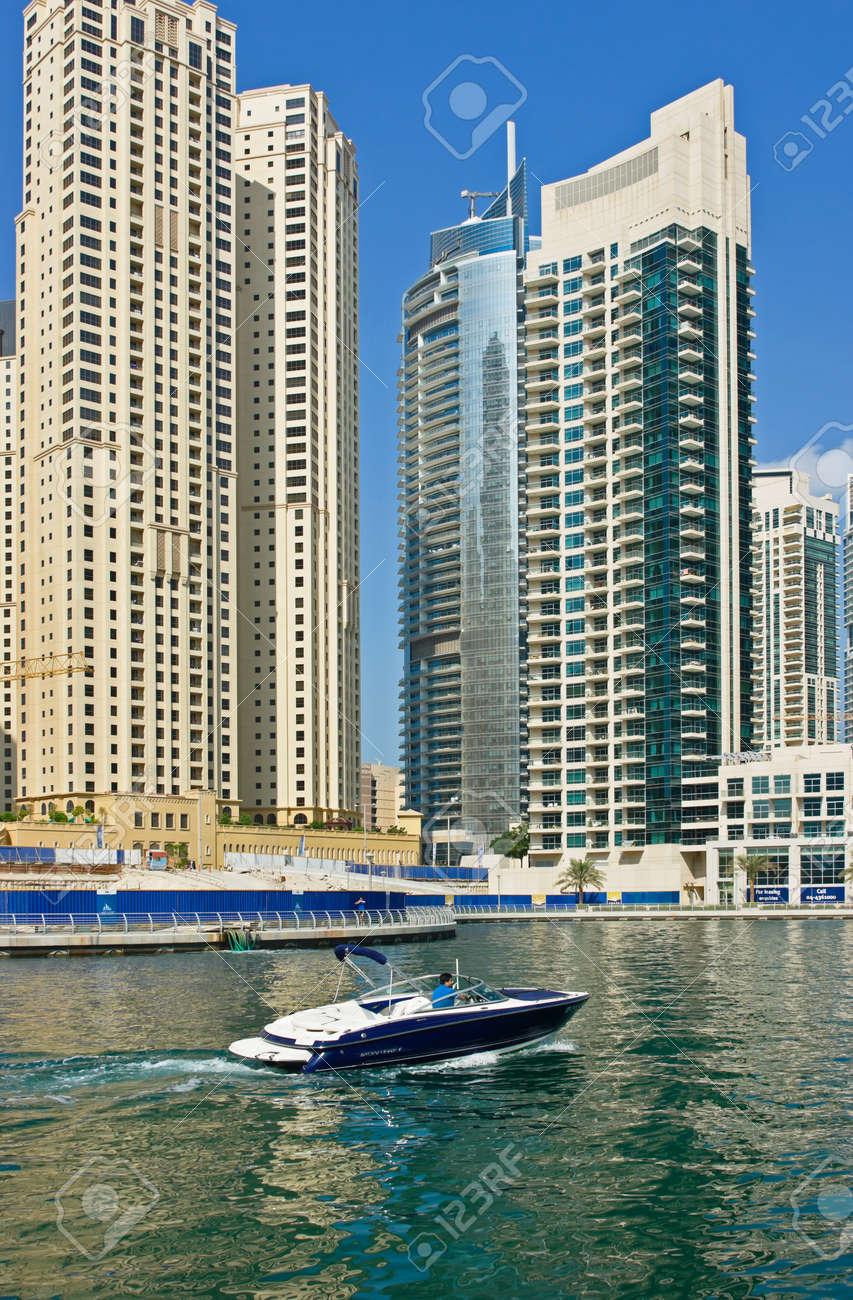DUBAI, UAE - NOVEMBER 16: Modern buildings in Dubai Marina, on November 16, 2012, Dubai, UAE. In the city of artificial channel length of 3 kilometers along the Persian Gulf. Stock Photo - 17202249