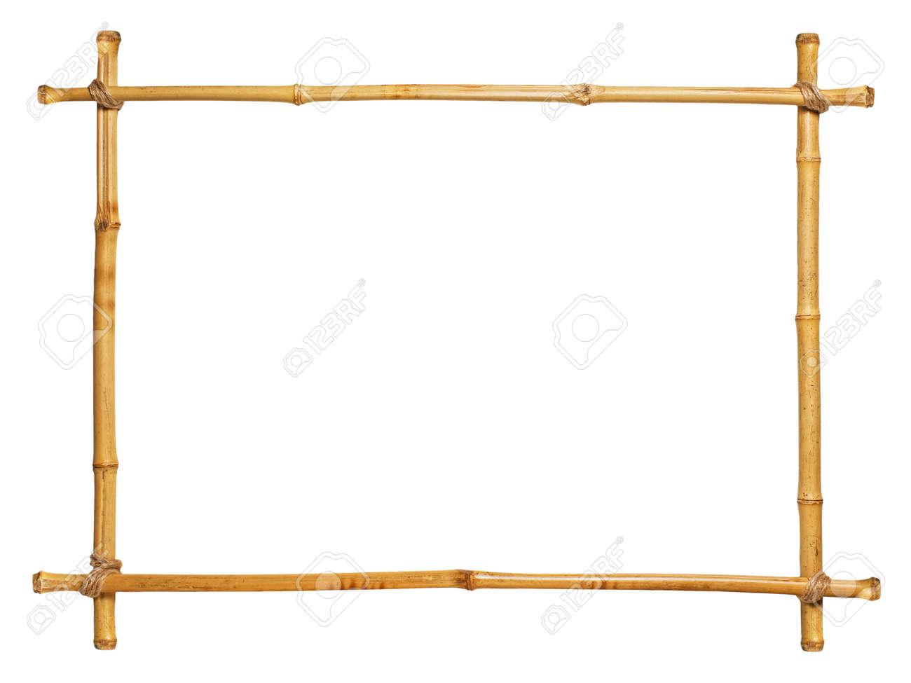Bambus-Rahmen Auf Weißem Hintergrund Lizenzfreie Fotos, Bilder Und ...