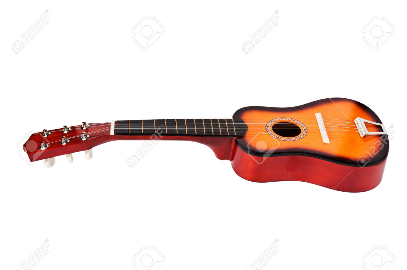 Children S Acoustic Guitar Isolated On A White Background Stock