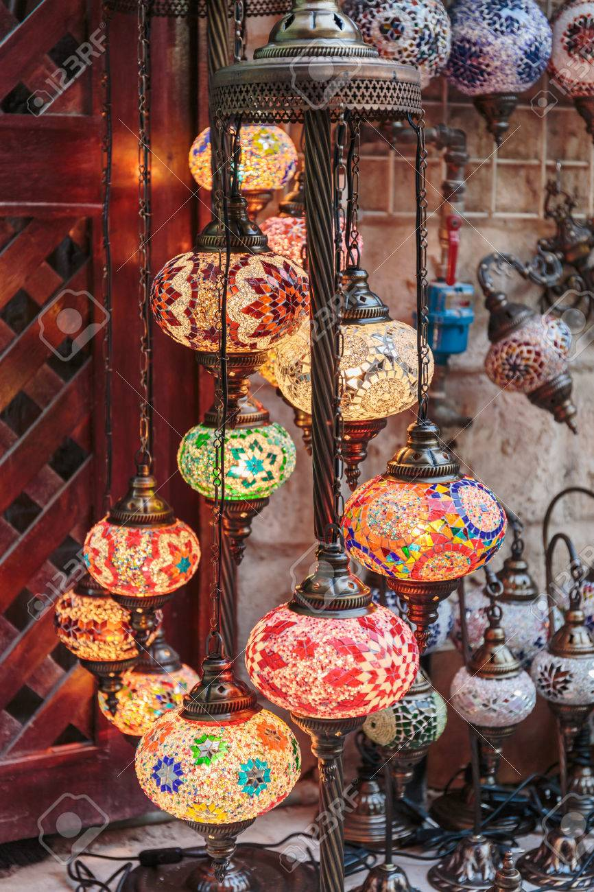 Traditional Arabic Lamps On The Market Dubai Stock Photo, Picture ... for Traditional Arabic Lamp  55jwn
