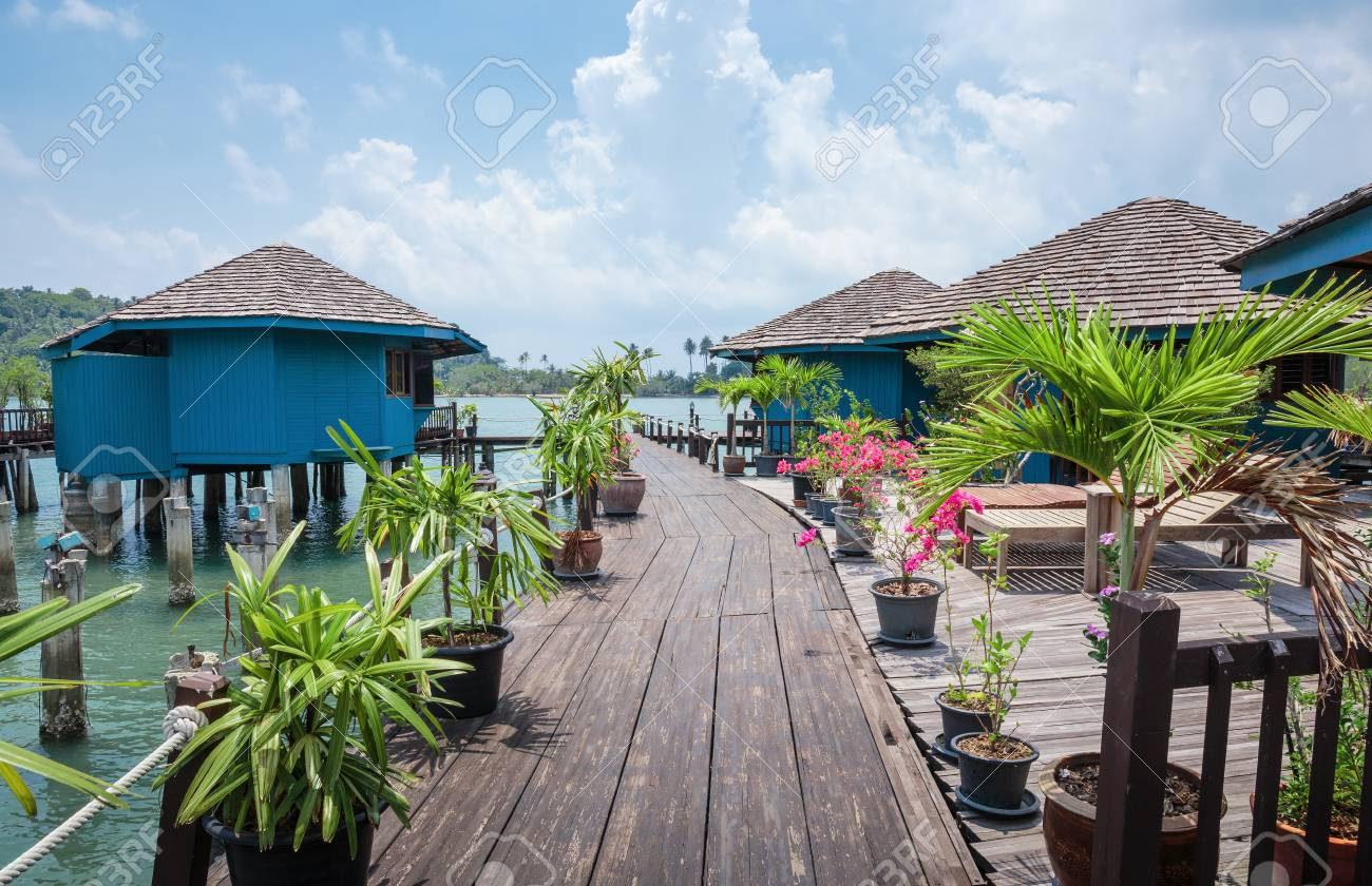 Houses On Stilts In The Fishing Village On A Tropical Island Stock Photo 81944194