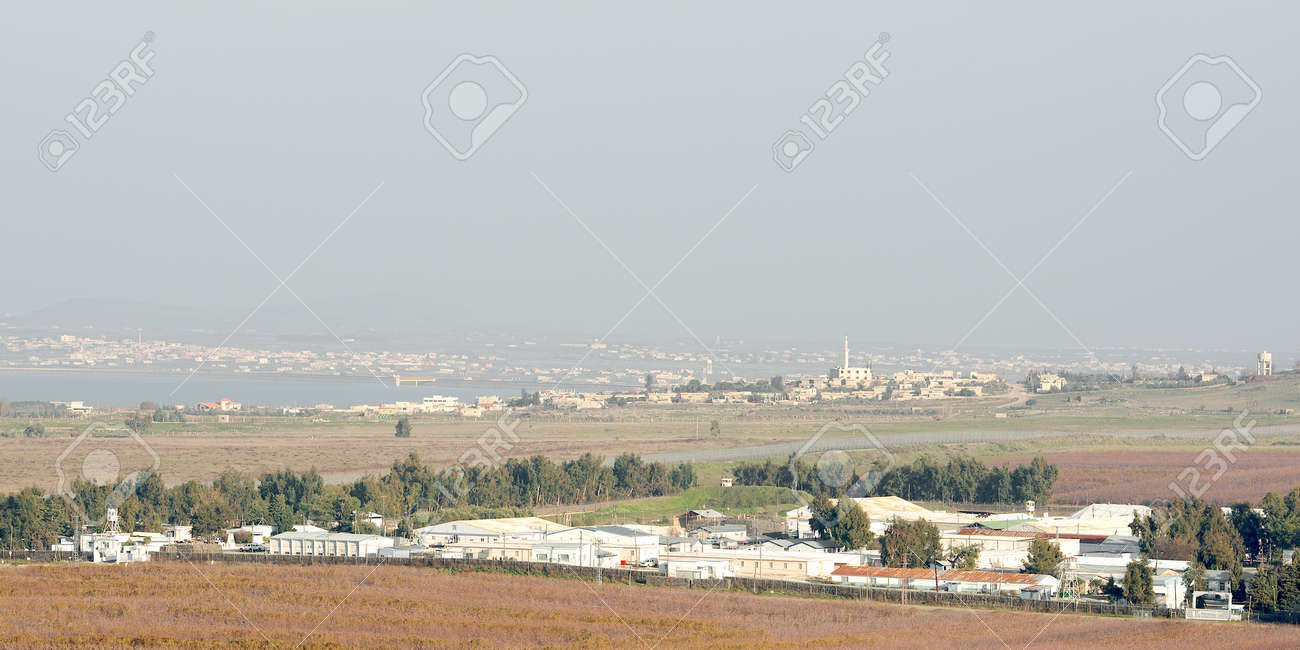 UN base in demilitarized zone between Syria and Israel Stock Photo - 17228379