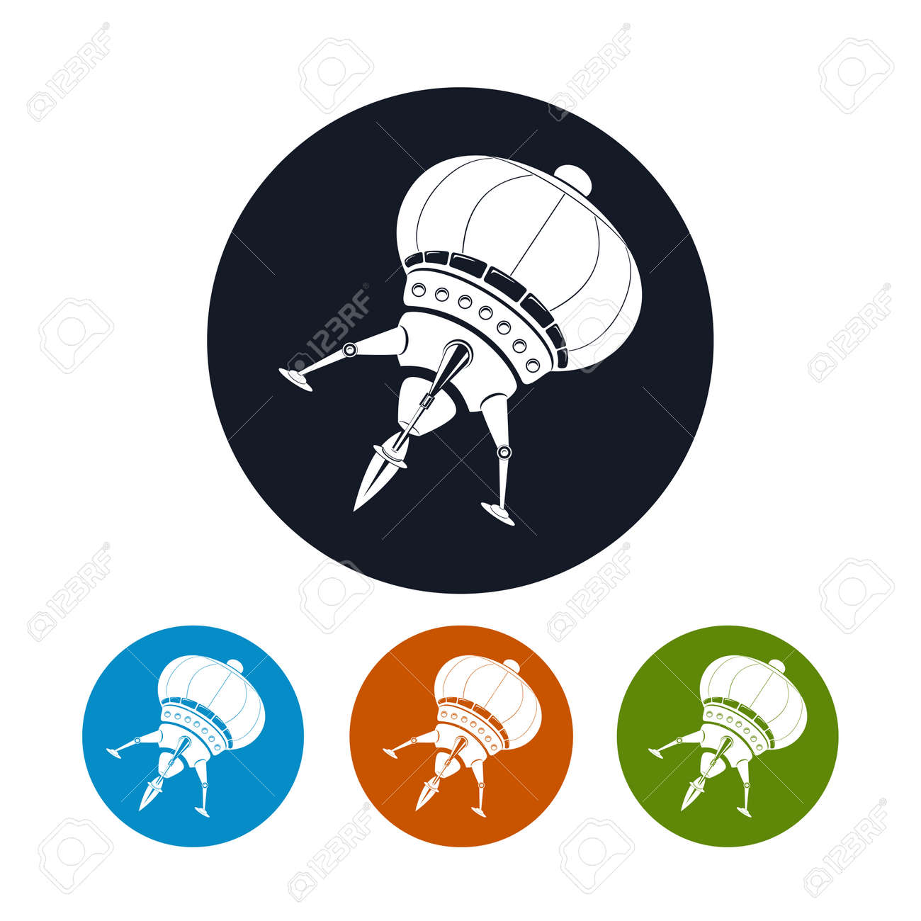 spaceship icon the four types of colorful round icons vector rh 123rf com spaceship vector ai spaceship vector images
