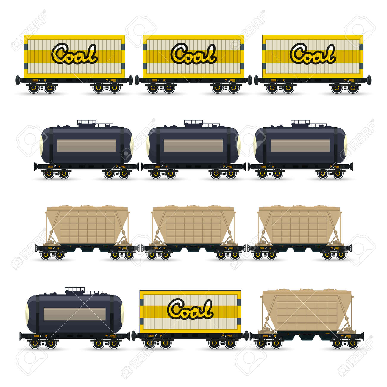 Freight Train Car Types