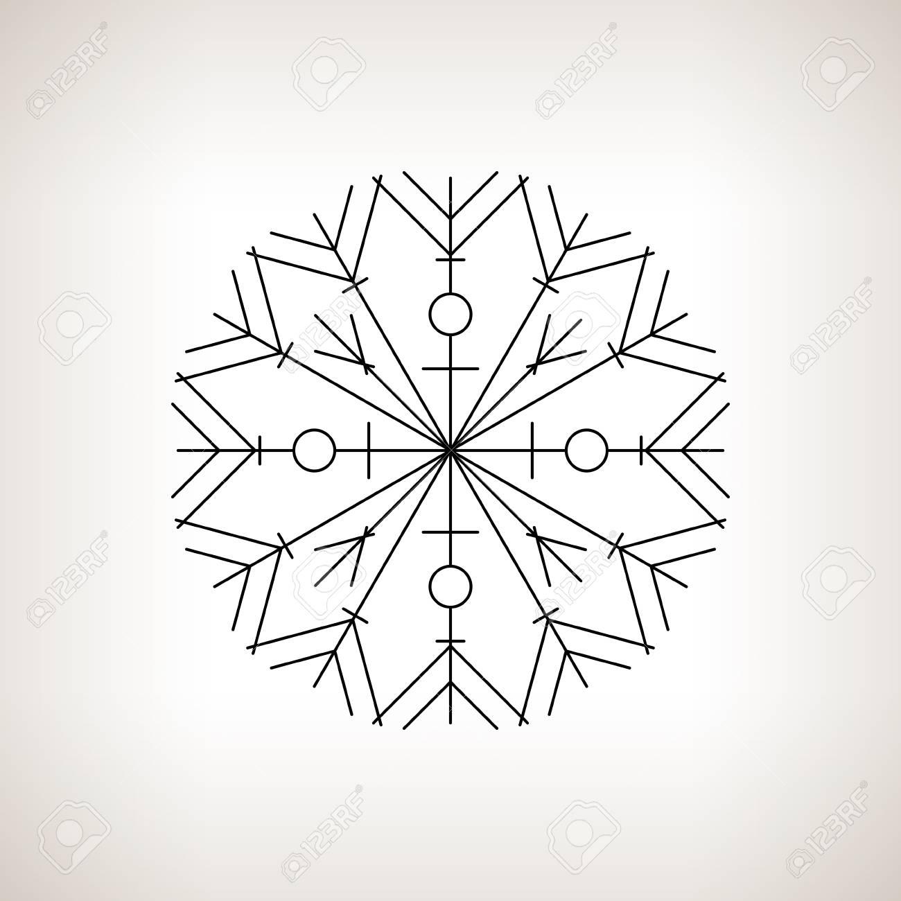 Flocon De Neige Sur Un Fond Clair Joyeux Noel Et Bonne Annee