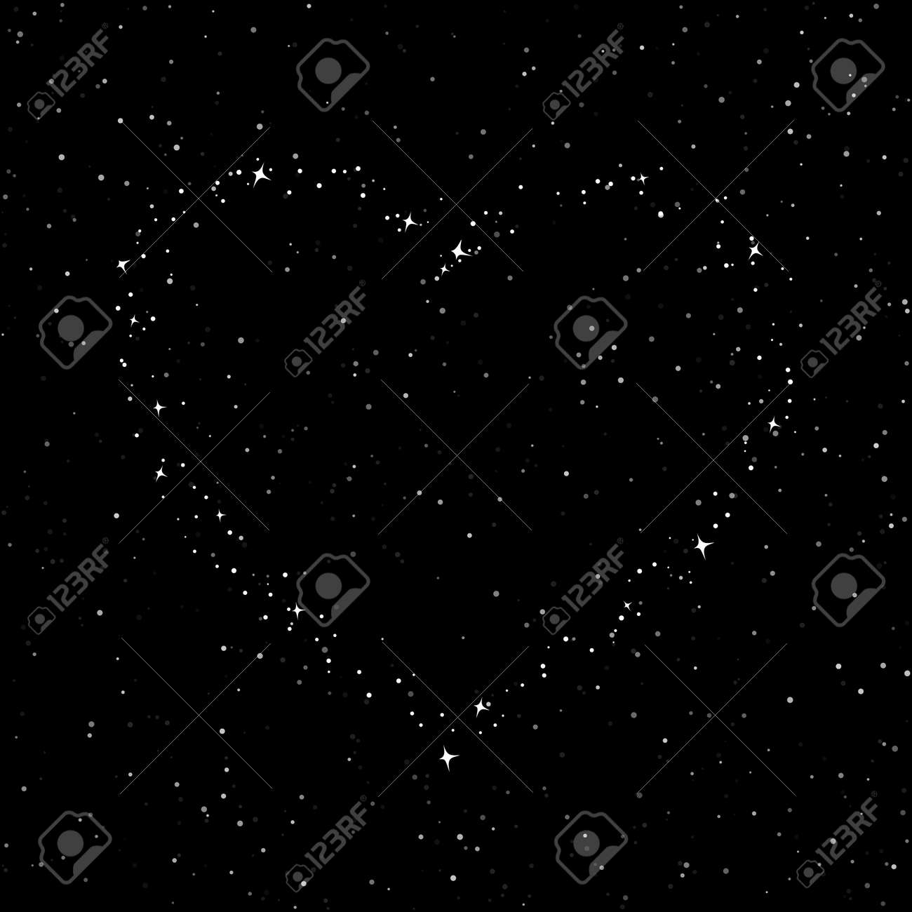 The Heart of the Stars in the Sky, Night Sky with Stars for Valentine, Starry Night Sky, Happy Valentines Day , Vector Illustration - 50249395