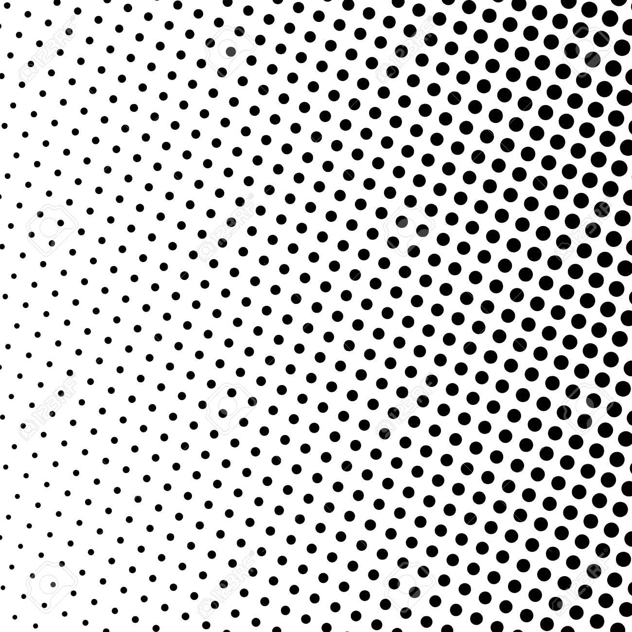 Sfondo Di Arte Pop Puntini Neri Su Sfondo Bianco Sfondo Mezzitoni Sfumato Stile Retrò Illustrazione Vettoriale