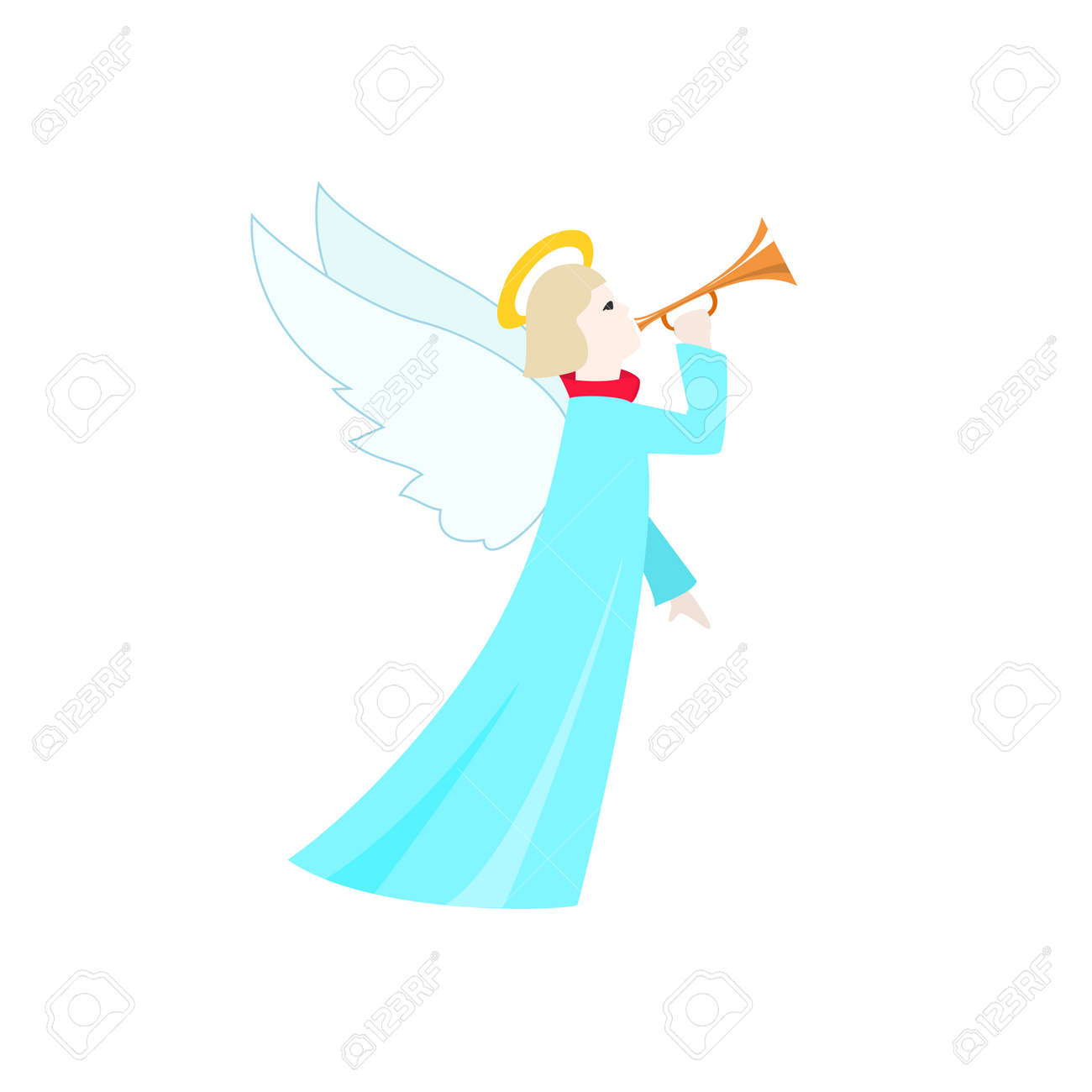 christmas angel christmas decorations isolated on white background merry christmas and happy new year