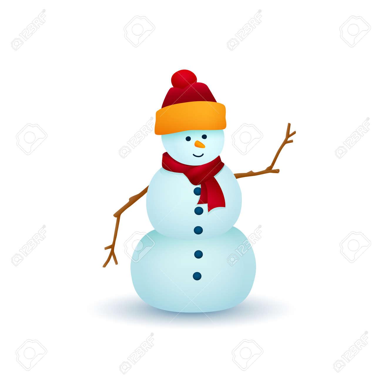 Weihnachtsschneemann Getrennt Auf Weißem Hintergrund, Weiße ...
