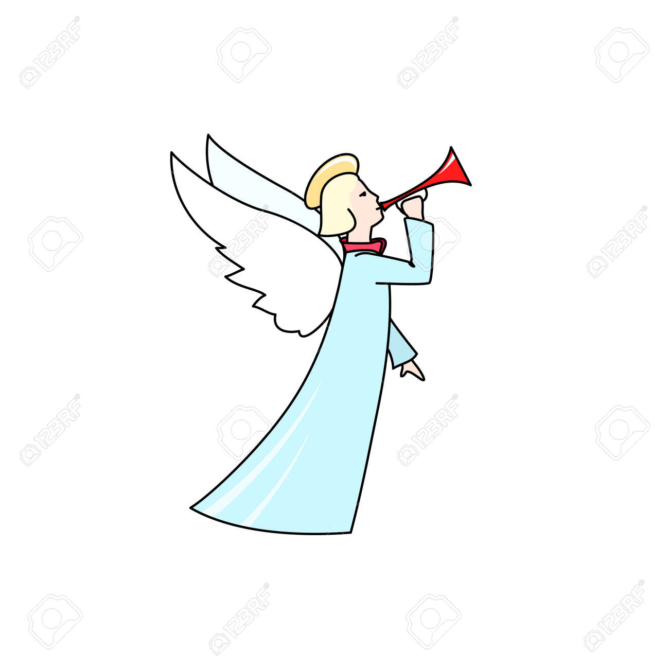 christmas angel isolated on white background christmas decorations merry christmas and happy new year