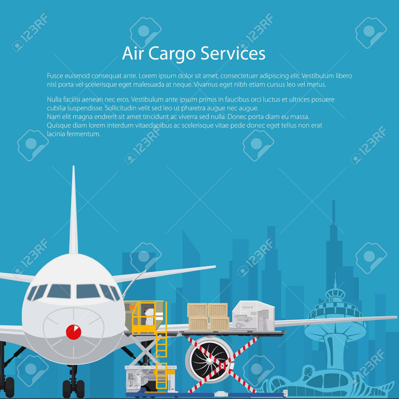 Poster Air Cargo Services And Freight Airplane With Autoloader Royalty Free Cliparts Vectors And Stock Illustration Image 79639782