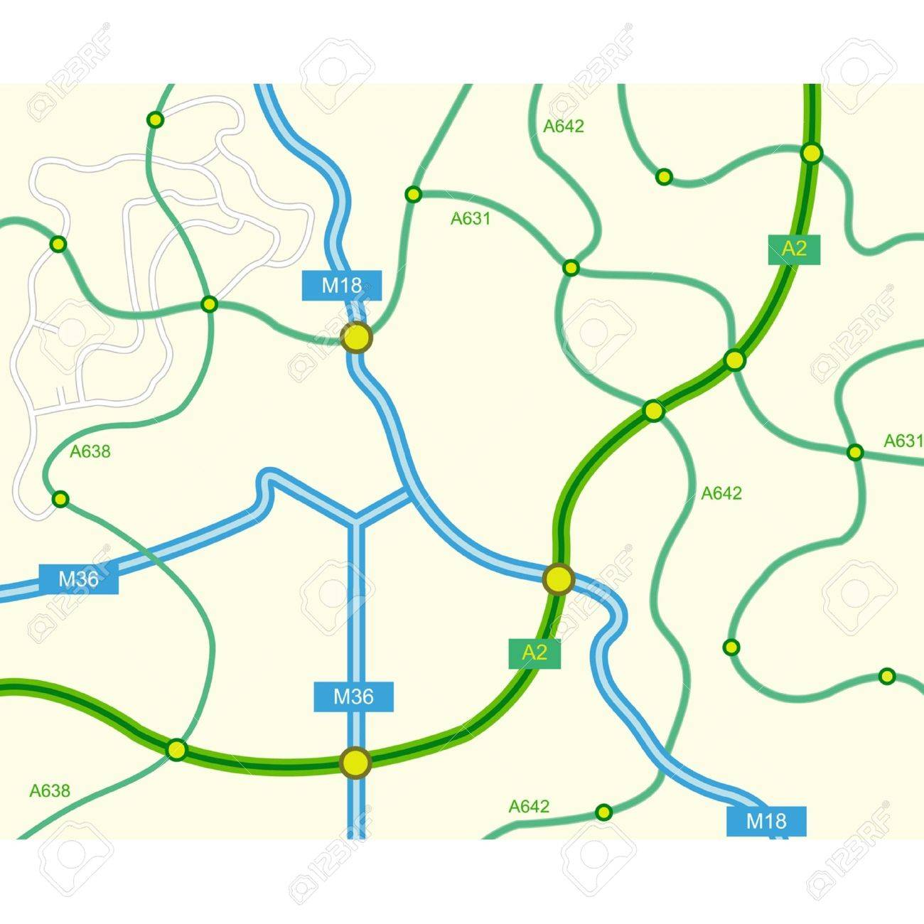 vector vector illustration of abstract road map