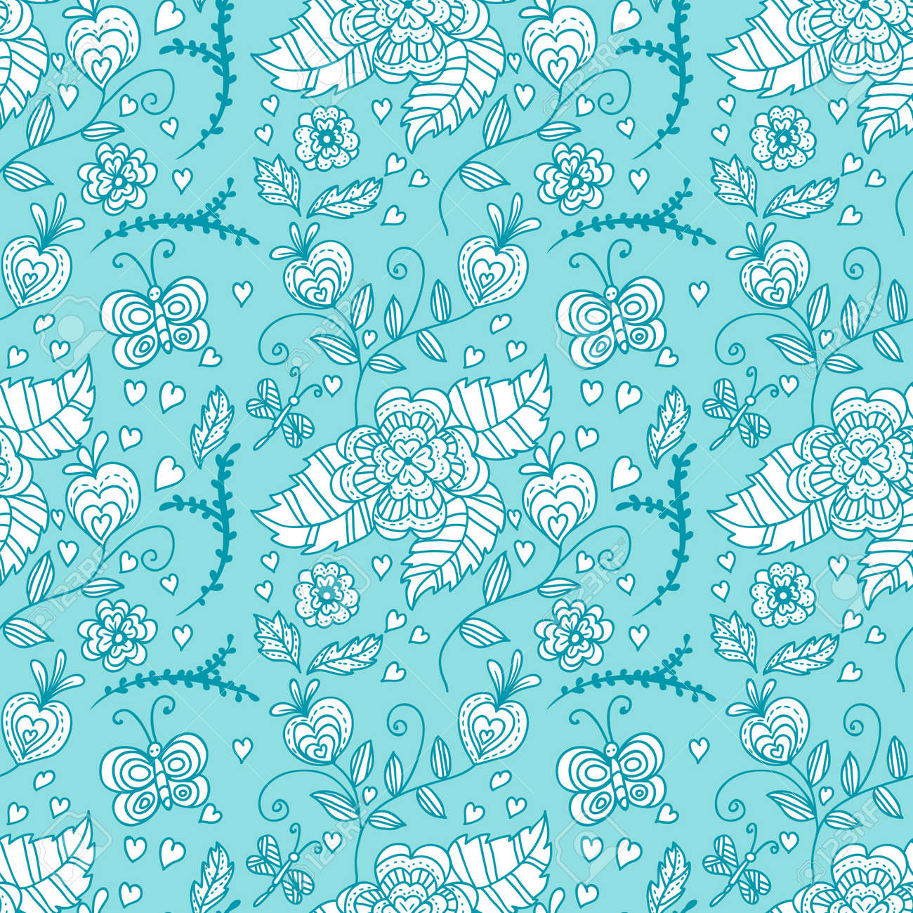Seamless pattern with  flowers Stock Vector - 16250855