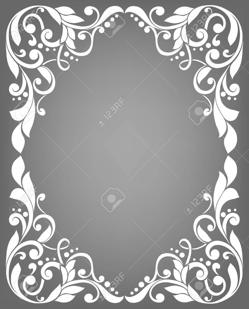Vintage Filigree Frame Royalty Free Cliparts, Vectors, And Stock ...