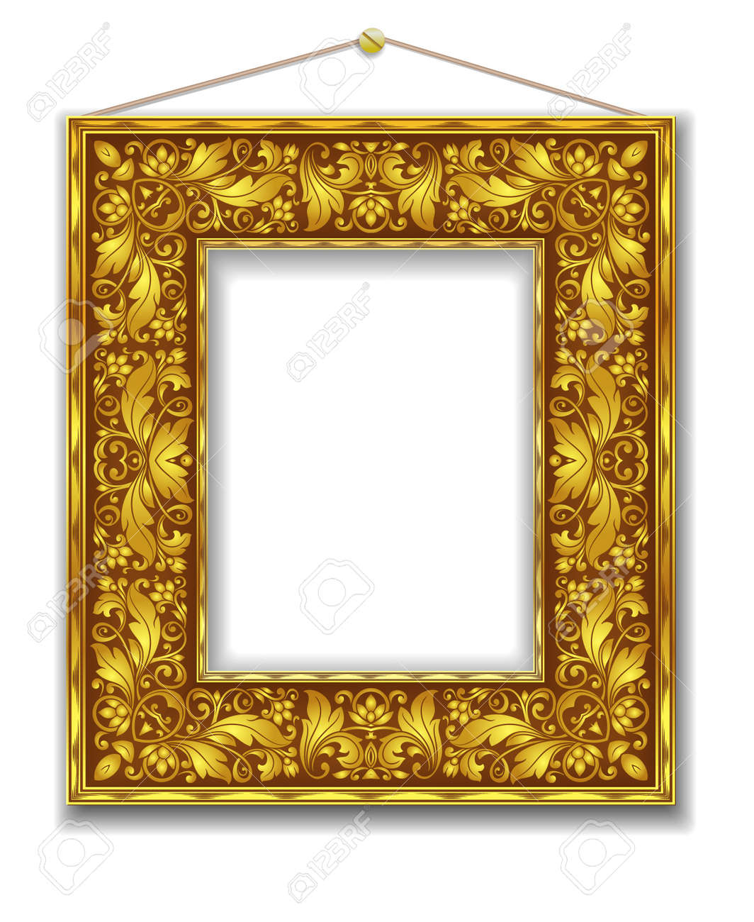 gold frame Stock Vector - 21603296