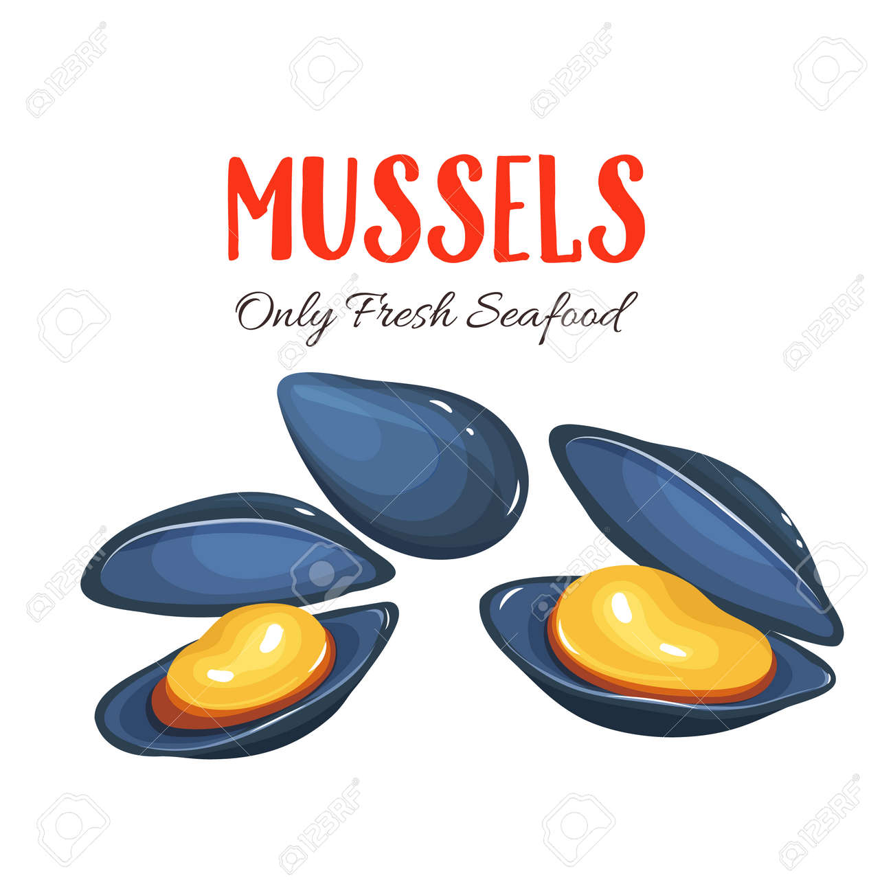 mussels vector illustration in cartoon style seafood product rh 123rf com Free Ocean Clip Art Black and White Free Clip Art Cartoon Ocean