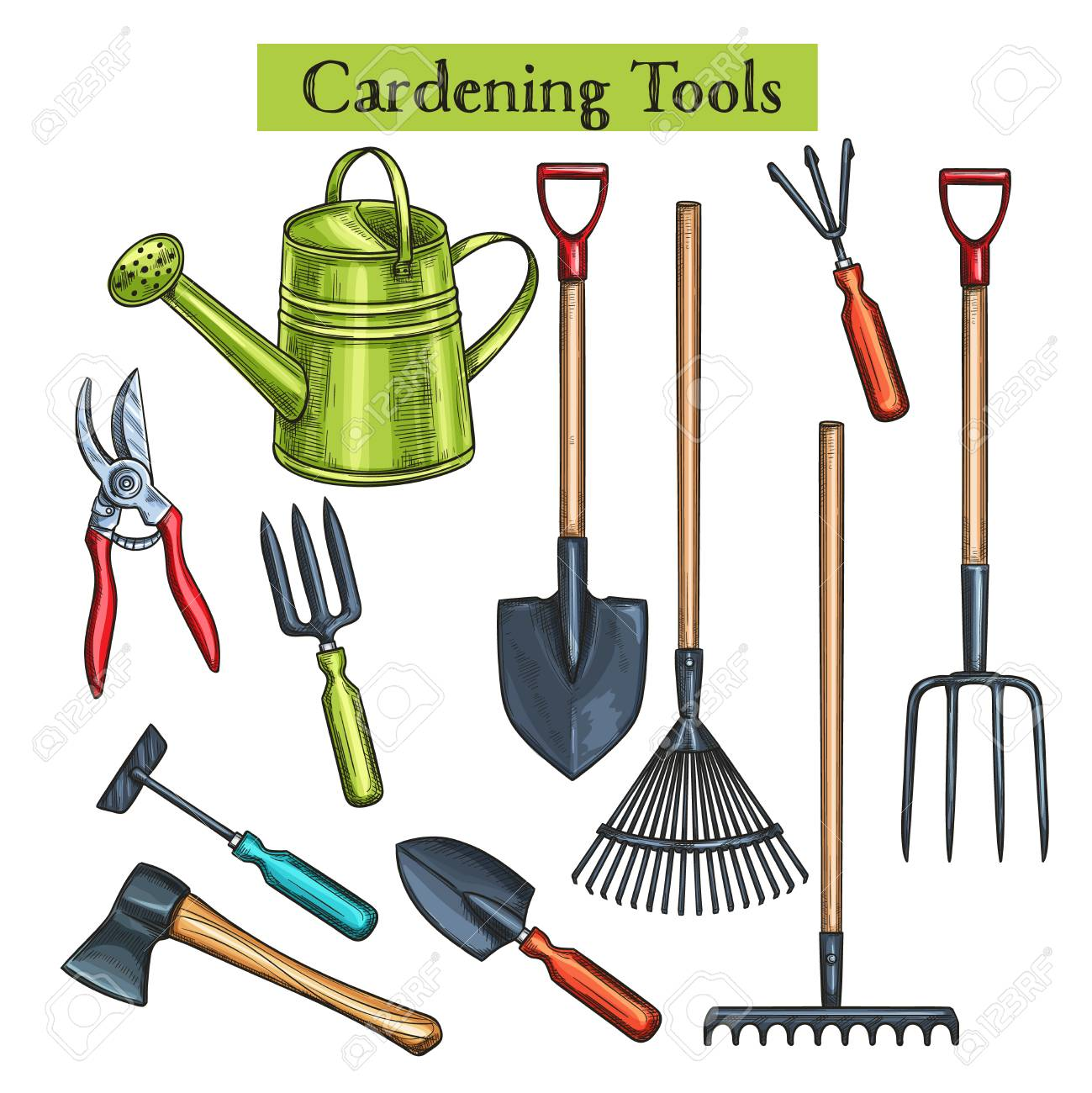 Gardening Tools Royalty Free Cliparts Vectors And Stock
