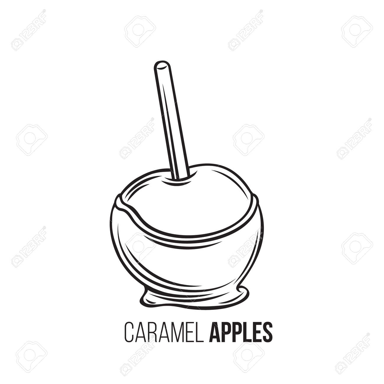 Apples In Caramel Royalty Free Cliparts Vectors And Stock Illustration Image 114948148