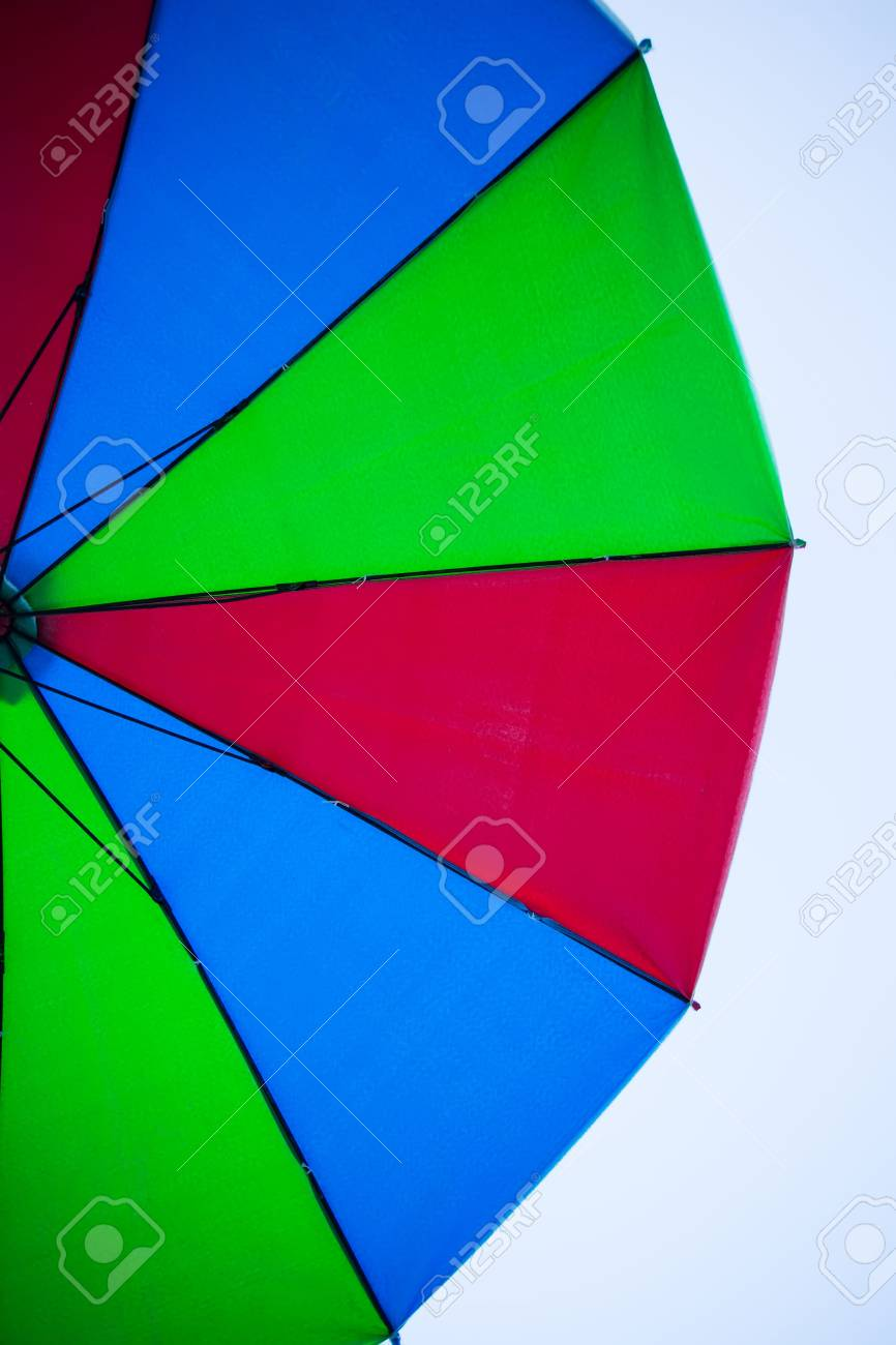 Texture Of Under Colorful Umbrella Stock Photo, Picture And Royalty ...