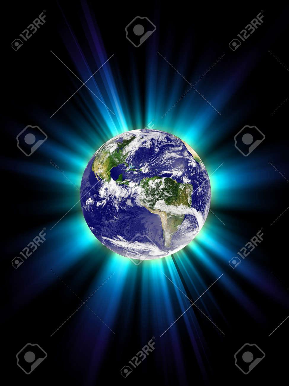 Planet Earth, corona Stock Photo - 8952867