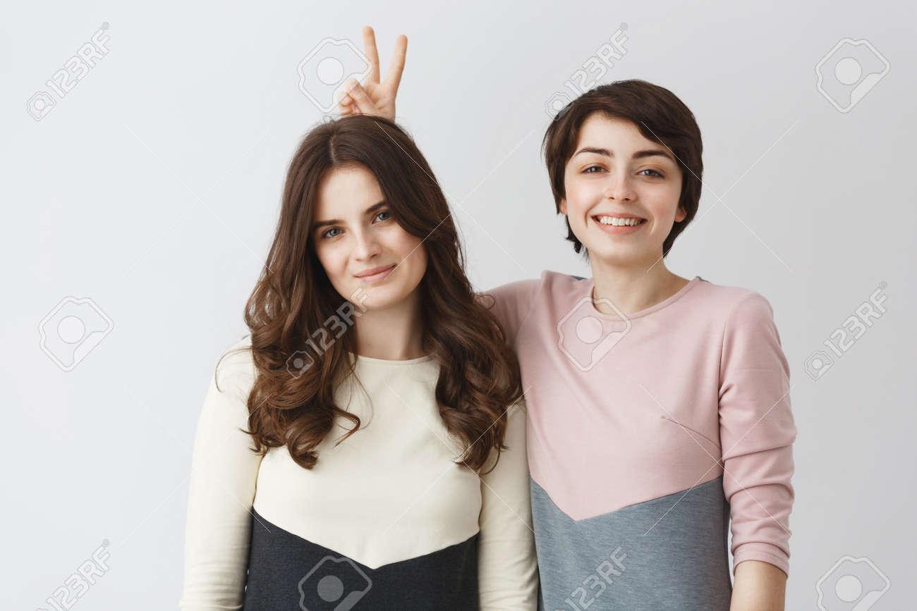 Lesbians with dark hair