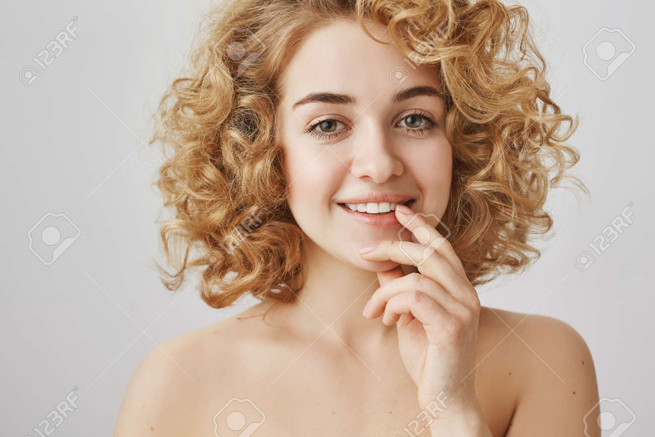 Short curly hair brunette nude