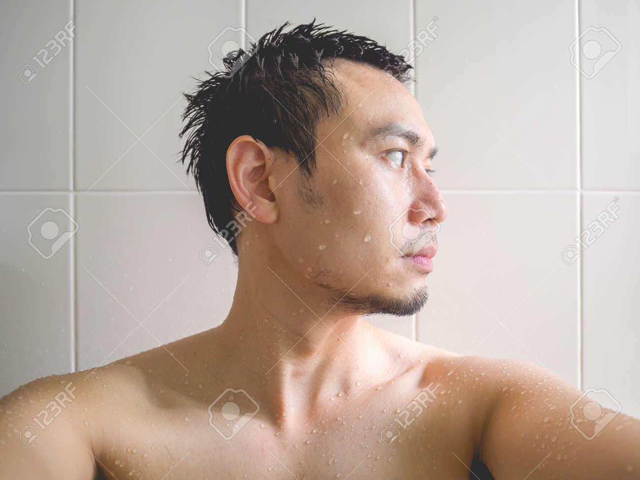 Asian guy bathroom