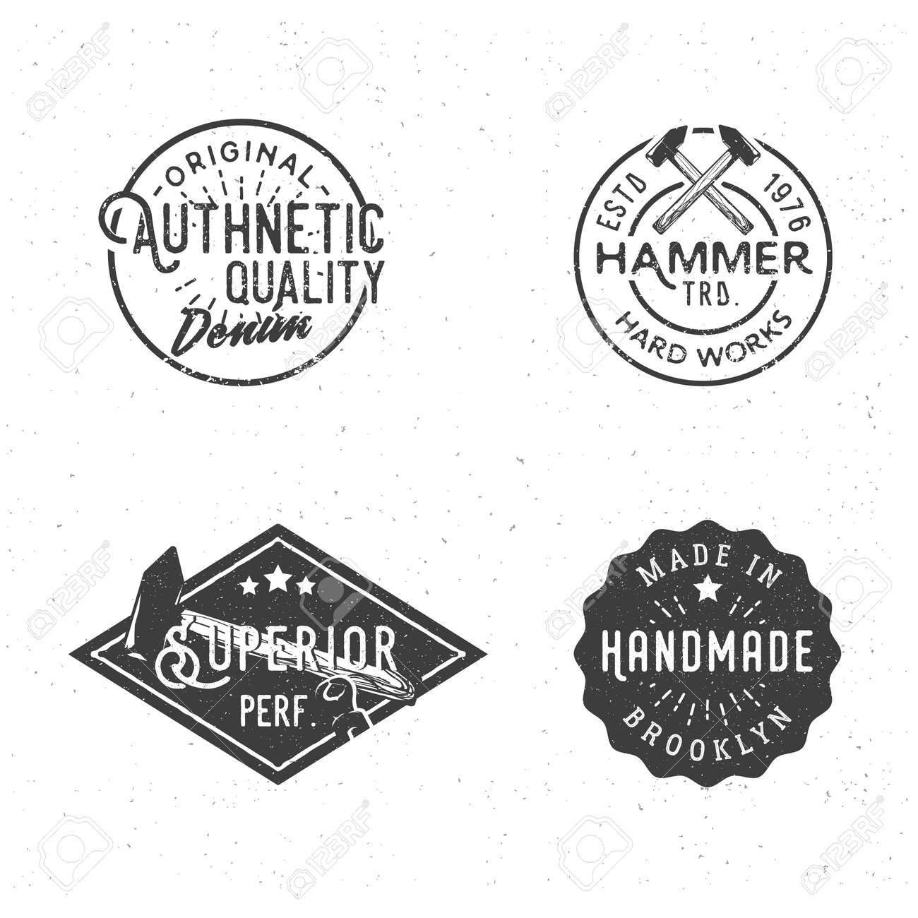 Vintage Labels In Retro Old-fashioned Style. Vintage Templates ...