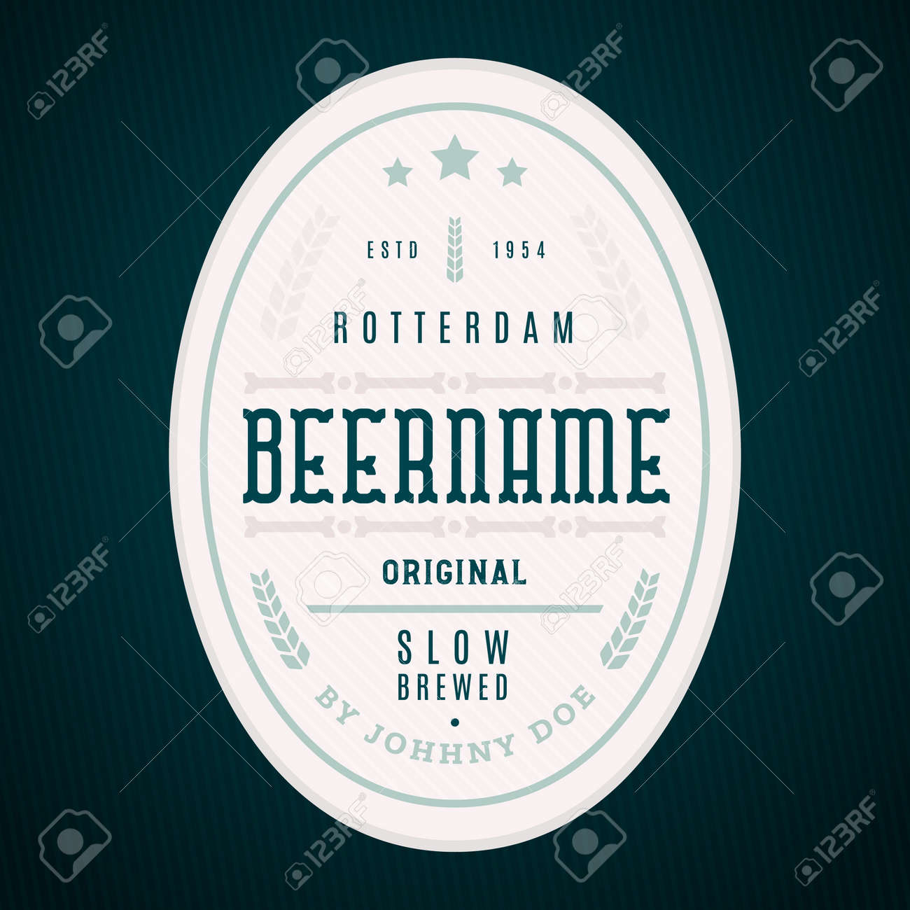 Craft Beer Label Template. Modern Label Design, Professional ...
