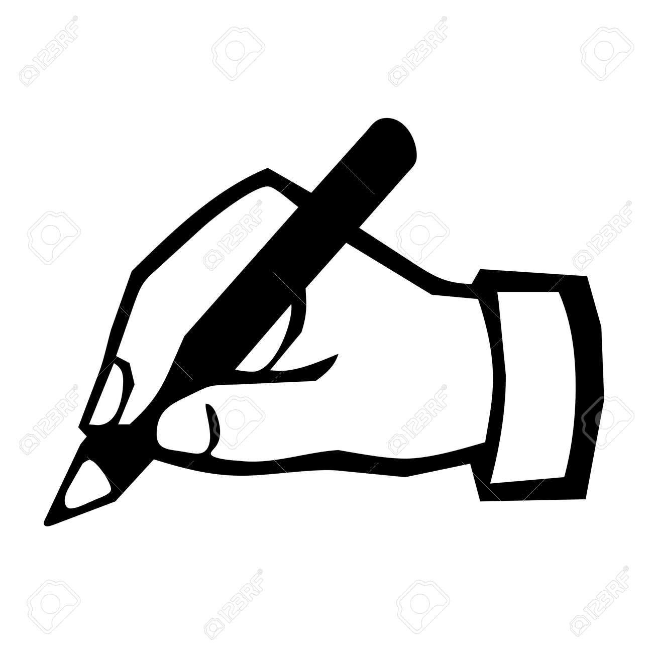 Hand Writing Icon Stock Photo, Picture And Royalty Free Image ...