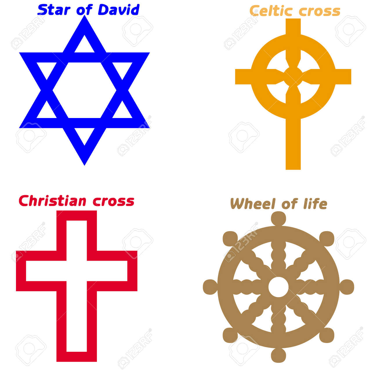 Religious symbols stock photo picture and royalty free image religious symbols stock photo 12165075 buycottarizona