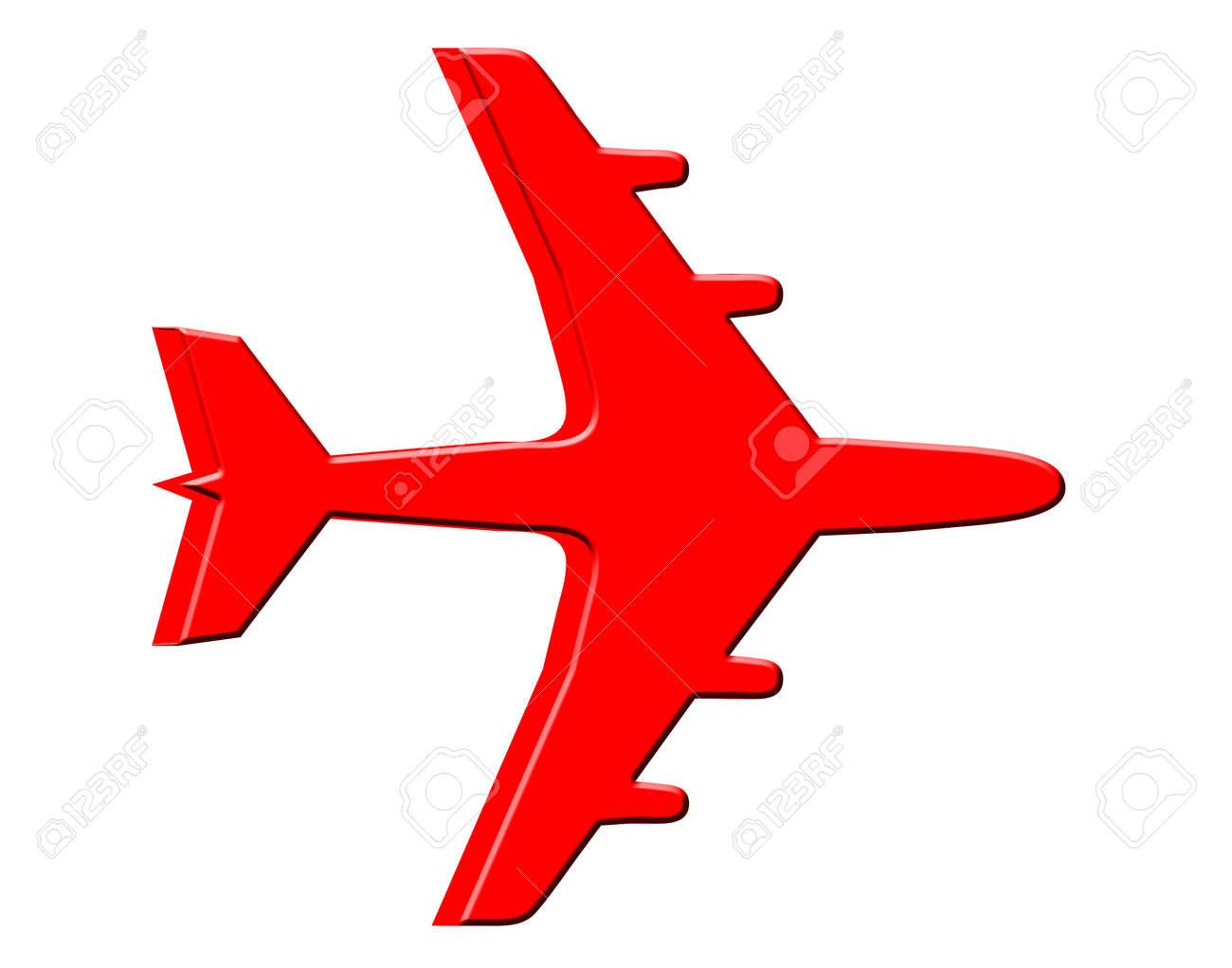 3D Jet plane - 12457942