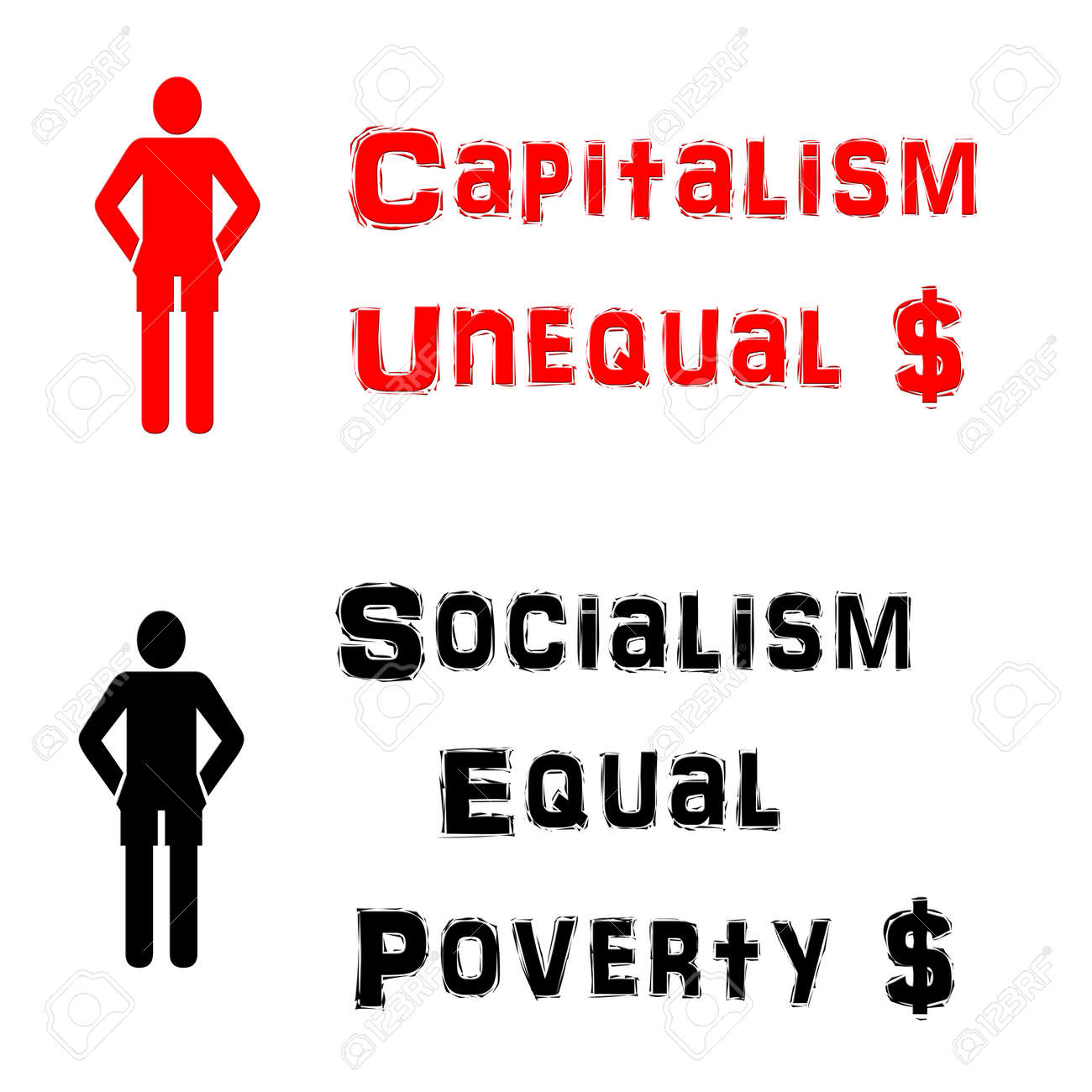 Capitalism and socialism illustration stock photo picture and capitalism and socialism illustration stock illustration 71150719 buycottarizona Gallery